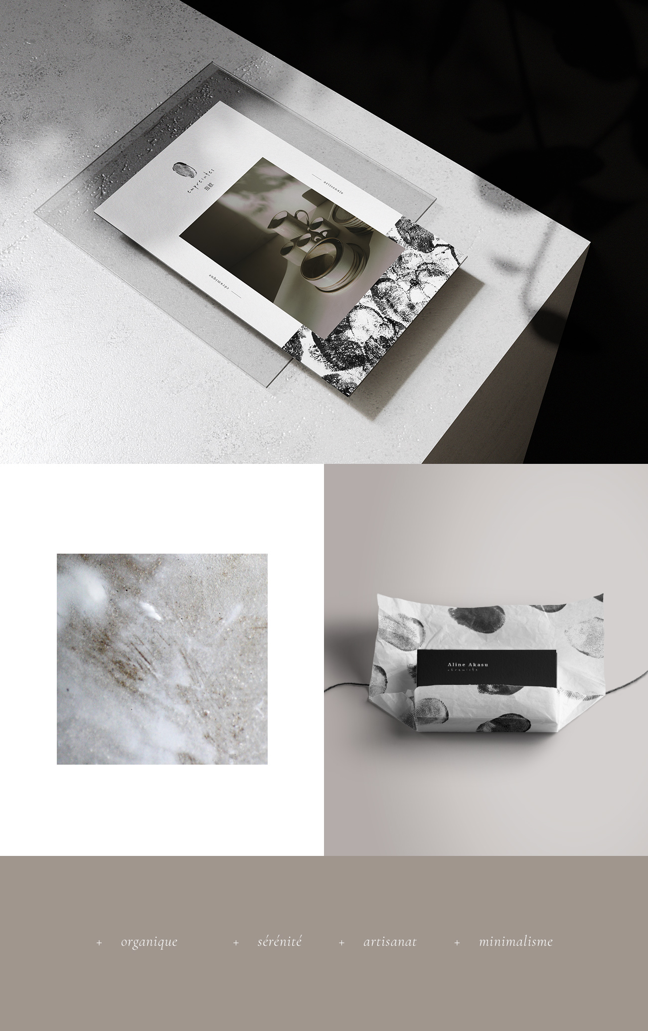 Brochure, packaging et matière
