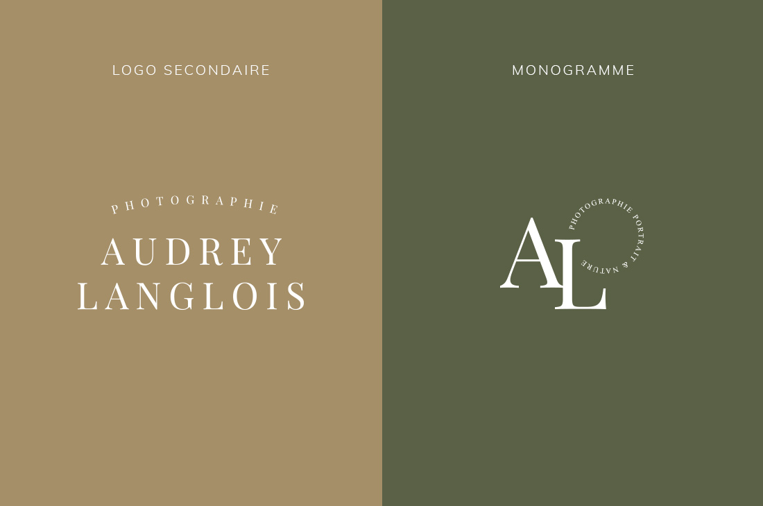 Logo secondaire et monogramme Kit Audrey Langlois