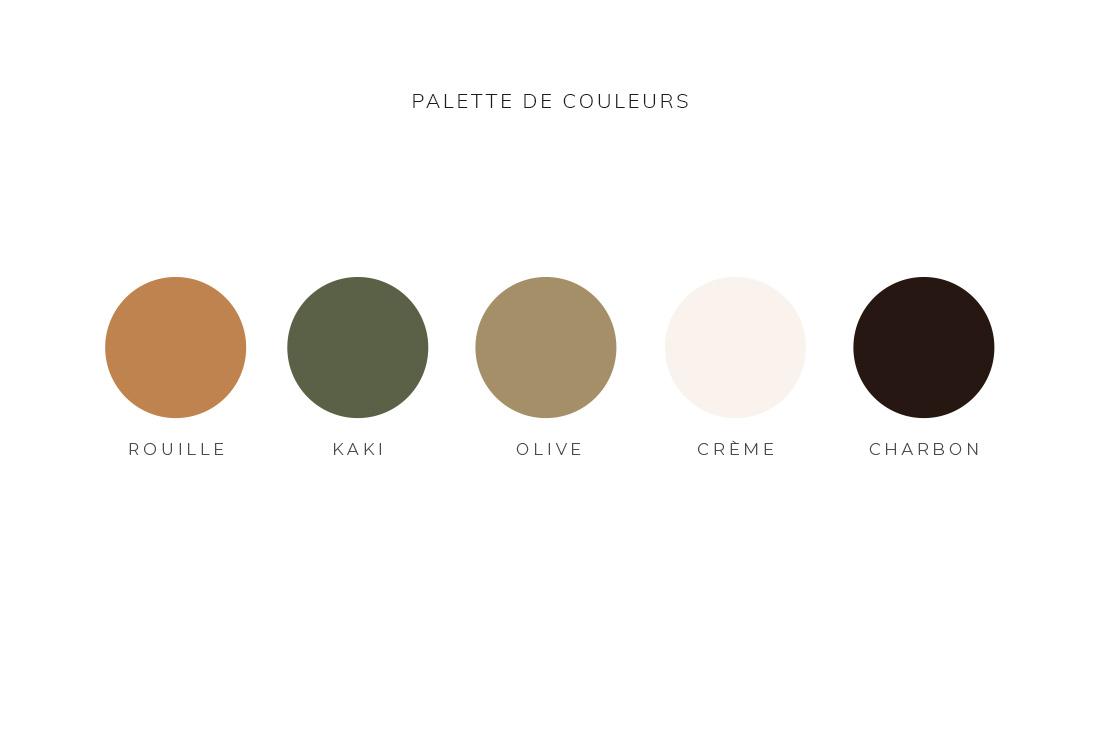 Palette de couleurs Kit Audrey Langlois