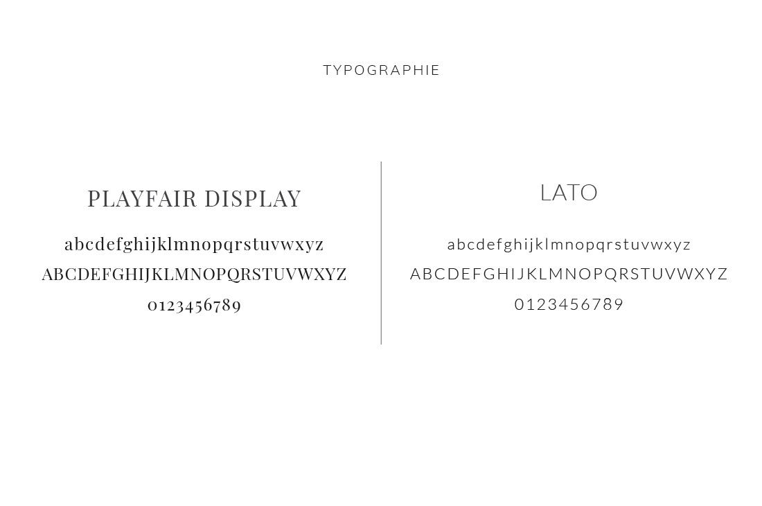 Typographie Kit Audrey Langlois