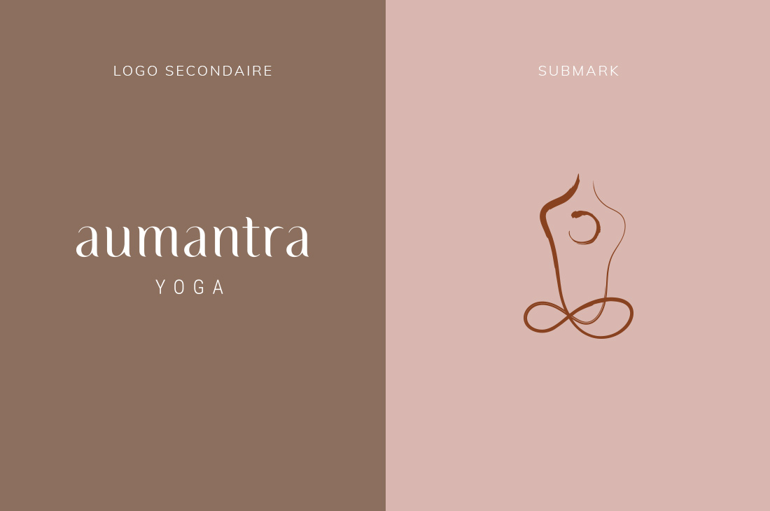 Logo secondaire et submark Kit Aumantra
