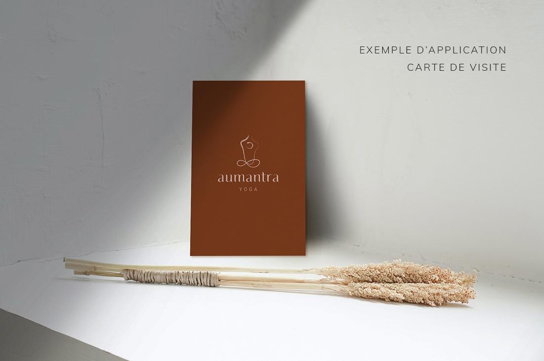 Exemple carte de visite Kit Aumantra