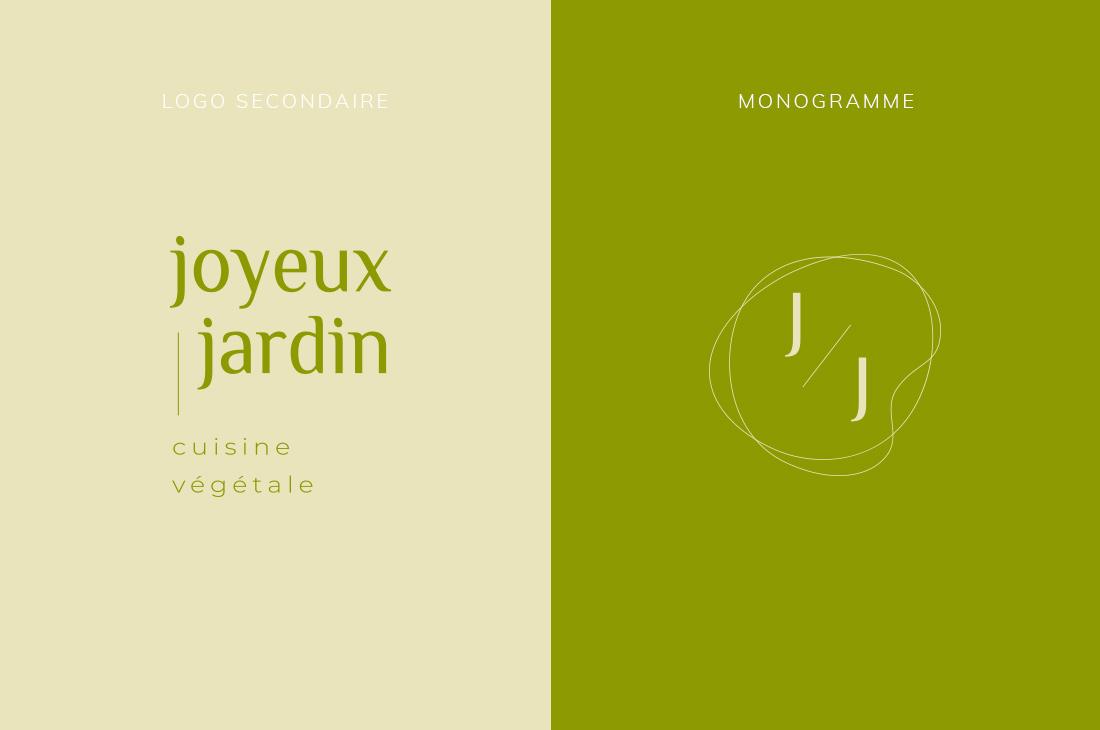 Logo secondaire et monogramme Kit Joyeux Jardin