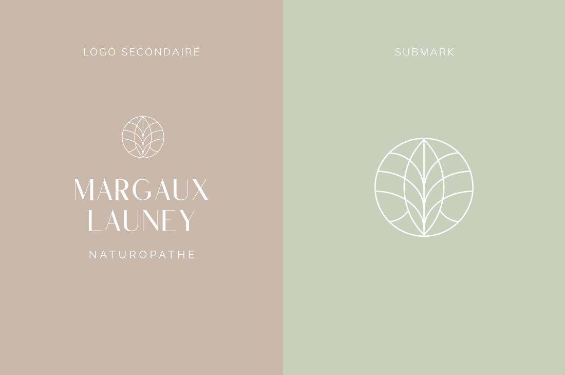Logo secondaire et submark Kit Margaux Launey