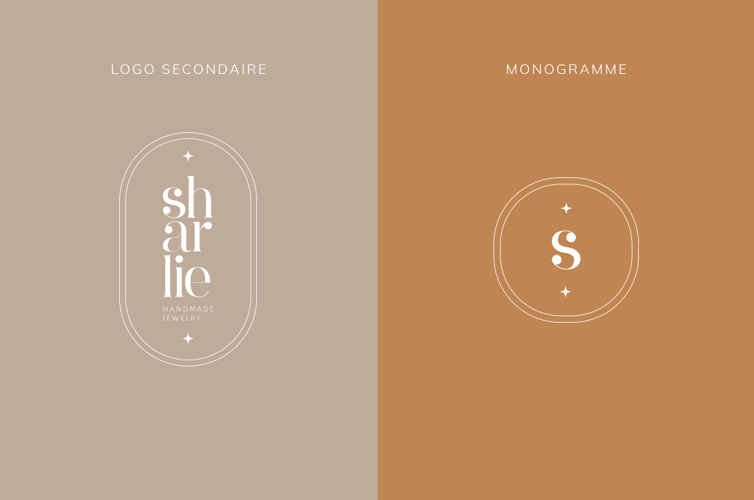 Logo secondaire et monogramme Kit Sharlie